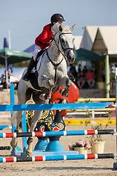 De Schrijver Brent, BEL, LIV Good vd Kattevennen Z<br /> FEI Jumping European Championships for Young Riders, Juniors, Children - Vilamoura 2021<br /> © Hippo Foto - Leanjo de Koster<br /> 21/07/2021