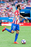 Atletico de Madrid's playerJuanfran Torres during a match of La Liga Santander at Vicente Calderon Stadium in Madrid. September 25, Spain. 2016. (ALTERPHOTOS/BorjaB.Hojas)