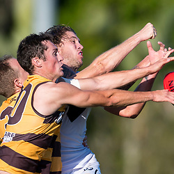 BRISBANE, AUSTRALIA - AUGUST 12:  during the NEAFL Round 20 match between Aspley Hornets and Southport Sharks at Graham Road on August 12, 2017 in Brisbane, Australia. (Photo by Patrick Kearney/Patrick Leigh Perspectives)