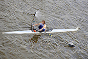 London, Great Britain,  Kate GROSE, Tideway Scullers, WVet B.1X.  passes under Chiswick Bridge at the start of the 2009 Scullers Head of the River Race, raced over the Championship Course, Mortlake to Putney, on the River Thames, 13:06:08  Saturday  28/11/2009,  [Mandatory Credit: © Peter Spurrier/Intersport Images]