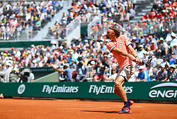 May 30, 2018 - Paris, U.S. - PARIS, FRANCE - MAY 30: ALEXANDER ZVEREV (GER) during day four match of the 2018 French Open 2018 on May 30, 2018, at Stade Roland-Garros in Paris, France. (Photo by Chaz Niell/Icon Sportswire) (Credit Image: © Chaz Niell/Icon SMI via ZUMA Press)