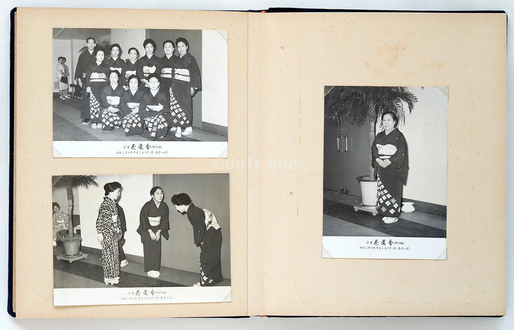 Japan photo album with Kouta music players meeting at Marunouchi hall on Oct 2 1959