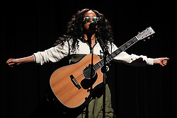 LOS ANGELES, CA, USA - DECEMBER 14: Singer H.E.R. aka Gabriella Wilson aka Gabi Wilson performs onstage at the 'WANTED' Concert Series Presented By MWP Entertainment Group Featuring H.E.R. held at The Novo by Microsoft at L.A. Live on December 14, 2018 in Los Angeles, California, United States. 14 Dec 2018 Pictured: H.E.R., Gabriella Wilson, Gabi Wilson. Photo credit: Xavier Collin/Image Press Agency/MEGA TheMegaAgency.com +1 888 505 6342