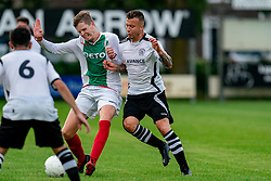 Mitch van der Vlist of VV Maarssen in action. Friendly match against EDO and Maarssen lost the home match with 3-0 on 20 August 2020 in Maarssen.