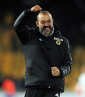 Football - 2019 / 2020 UEFA Europa League - Group K: Wolverhampton Wanderers vs. Slovan Bratislava<br /> <br /> Wolves manager Nuno Espirito Santo celebrates after the match  at Molineux.<br /> <br /> COLORSPORT/ANDREW COWIE