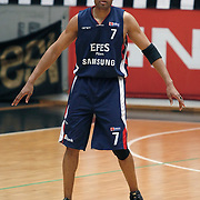 Efes Pilsen's Charles SMITH during their Turkish Basketball league Play Off semi final second leg match Besiktas between Efes Pilsen at the BJK Akatlar Arena in Istanbul Turkey on Wednesday 12 May 2010. Photo by Aykut AKICI/TURKPIX