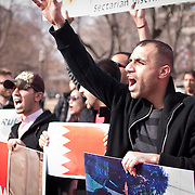 Bahraini protesters gathered in front of the White House on February 20, 2011 to demand reforms in the country.