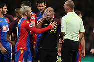 Pablo Zabaleta of Manchester City reacts after being fouled by Jason Puncheon of Crystal Palace. Premier League match, Crystal Palace v Manchester city at Selhurst Park in London on Saturday 19th November 2016. pic by John Patrick Fletcher, Andrew Orchard sports photography.