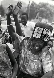 Feb. 02, 1971 - Overthrow of the Obote Govt in Uganda being celebrated y people in favor of the new govt under Gen Idi Amin ''(Left as Women's head) in Kampole Uganda. (Credit Image: © Keystone Press Agency/Keystone USA via ZUMAPRESS.com)