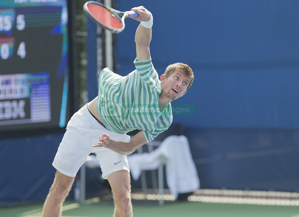 August 22, 2017 - New York, New York, United States - Yannick Maden of Germany returns ball during qualifying game against Mackenzie McDonald of USA at US Open 2017  (Credit Image: © Lev Radin/Pacific Press via ZUMA Wire)