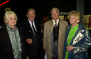 Lady Baker, Lord Jopling, Lord Baker and Lady Jopling, Private view of the Frieze Art Fair, Regent's Park. 14 October 2004. ONE TIME USE ONLY - DO NOT ARCHIVE  © Copyright Photograph by Dafydd Jones 66 Stockwell Park Rd. London SW9 0DA Tel 020 7733 0108 www.dafjones.com