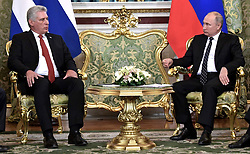 November 2, 2018 - Moscow, Russia - November 2, 2018. - Russia, Moscow. - Russian President Vladimir Putin and President of Cuba Miguel Diaz-Canel Bermudez (left) during a meeting. (Credit Image: © Russian Look via ZUMA Wire)