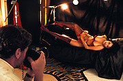 Playboy lingerie shoot. Hollywood, California. Shot for the book project: A Day in a Life of Hollywood. MODEL RELEASED. USA.