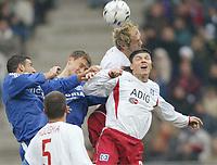 Fotball 25. september 2003, Bundesligav.l. Anibal Matellan, Ebbe Sand, Sergej Barbarez, Tomas Ujfalusi, Bundesliga Hamburger SV - FC Schalke 04