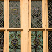 Europe, Great Britain, United Kingdom, Scotland. Stained glass windows at Stirling Castle.