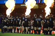 The Al Blacks team prepare for match ahead of k/o. Rugby World Cup 2015 quarter-final match, New Zealand v France at the Millennium Stadium in Cardiff, South Wales  on Saturday 17th October 2015.<br /> pic by  Andrew Orchard, Andrew Orchard sports photography.