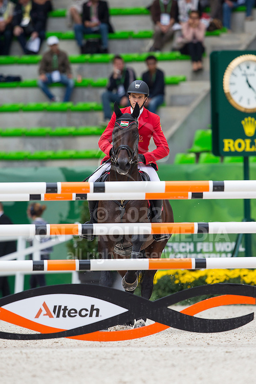 Gabor Szabo Jr, (HUN), Timpex Cent - Team & Individual Competition Jumping Speed - Alltech FEI World Equestrian Games™ 2014 - Normandy, France.<br /> © Hippo Foto Team - Leanjo De Koster<br /> 02-09-14