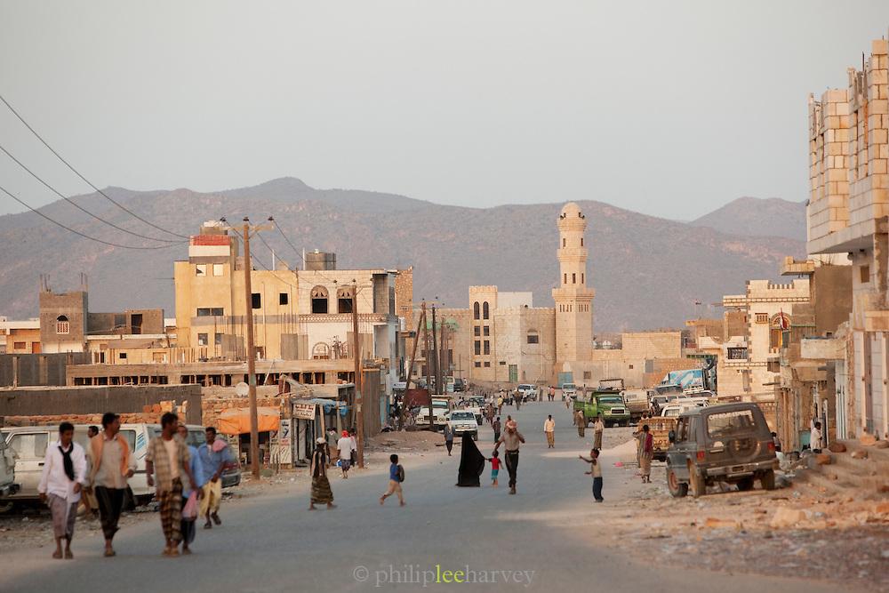 Street scene in Hadibu, the main town of Socotra, Yemen
