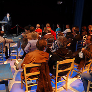Persconferentie Joop van den Ende ivm samenwerking met de NS.Nederlandse Spoorwegen