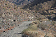 a mountain dirt road in the San Jacinto Mountain range near Palm springs USA