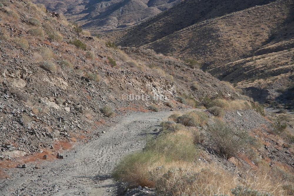 a mountain dirt road in the San Jacinto Mountain range near Palm springs USA