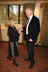 ELAINE PAIGE and SIR TIM RICE at a tribute lunch for Elaine Paige hosted by the Lady Taverners at The Dorchester, Park Lane, London on 13th November 2007.<br />