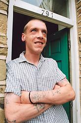 Homeless man now living in temporary accomodation through a Housing Association; Bradford