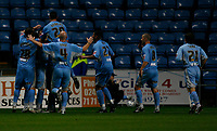 Photo: Steve Bond.<br />Coventry City v Notts County. The Carling Cup. 14/08/2007. Robbie Simpson (buried) celebrates