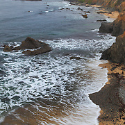 Pigeon Point Lighthouse And Shoreline Distant View