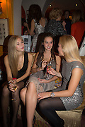 HERMIONE CORFIELD; LUCIA ST. CLAIR; CLEMENTINE NICOLSON, Launch of book by Nicholas Coleridge.- The Adventuress. Annabels. Berkeley Sq. London. 9 October 2012.