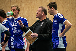 Trainer/coach Arjen Schimmelof Vocasa  in action during the first league match in the corona lockdown between Talentteam Papendal vs. Vocasa on January 13, 2021 in Ede.
