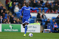 Sol Bamba of Cardiff city in action. EFL Skybet championship match, Cardiff city v Birmingham City at the Cardiff City Stadium in Cardiff, South Wales on Saturday 11th March 2017.<br /> pic by Andrew Orchard, Andrew Orchard sports photography.