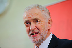 © Licensed to London News Pictures. 10/01/2017. Peterborough, UK. Labour leader JEREMY CORBYN outlines the party's plan for Brexit as he delivers a speech at Paston Farm Centre in Peterborough on Tuesday, 10 January 2017. Photo credit: Tolga Akmen/LNP
