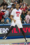 DALLAS, TX - JANUARY 7: Jarrey Foster #10 of the SMU Mustangs celebrates after a made three-pointer against the Cincinnati Bearcats on January 7, 2016 at Moody Coliseum in Dallas, Texas.  (Photo by Cooper Neill/Getty Images) *** Local Caption *** Jarrey Foster