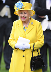 Members of The Royal Family attend the first day of Royal Ascot 2018 at Ascot Racecourse, Ascot, Berkshire, UK, on the 19th June 2018. 19 Jun 2018 Pictured: Queen, Queen Elizabeth. Photo credit: James Whatling / MEGA TheMegaAgency.com +1 888 505 6342