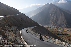 Scotty Busch and Rip Rolfsen heading up to 12,000' at the end of day-5  of our Himalayan Heroes adventure riding from Kalopani through the Mustang District to Muktinath, Nepal. Saturday, November 10, 2018. Photography ©2018 Michael Lichter.