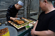 Food stand, Old Town Muslim quarters, Xian City, Shaanxi, China