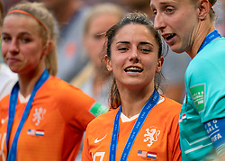 07-07-2019 FRA: Final USA - Netherlands, Lyon<br /> FIFA Women's World Cup France final match between United States of America and Netherlands at Parc Olympique Lyonnais. USA won 2-0 / Daniëlle van de Donk #10 of the Netherlands, Sari van Veenendaal #1 of the Netherlands