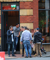 Ander Herrera is seen leaving his birthday lunch at Tapeo and Wine in Manchester