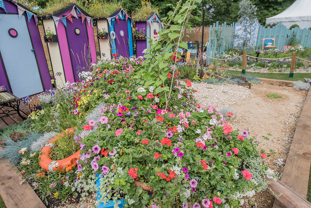 Fun on Sea and by the sea Gardens for Southend Council - The Hampton Court Flower Show, organised by the Royal Horticultural Society (RHS). In the grounds of the Hampton Court Palace, London.