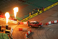 action from the Cardiff Millennium Stadium stage of the Wales Rally GB.