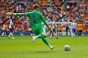 Tranmere Rovers goalkeeper Scott Davies (1) takes a goal kick during the EFL Sky Bet League 2 Play Off Final match between Newport County and Tranmere Rovers at Wembley Stadium, London, England on 25 May 2019.