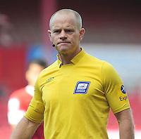 Referee Andy Woolmer ..Football - npower Football League Championship - Barnsley v Blackpool - Saturday 15th September 2012 - Oakwell Stadium - Barnsley..