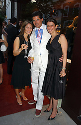 Left to right, NATHALIE LAMBERT, EDWARD TAYLOR and OLIVIA MEYRICK at a party to celebrate the re-launh of Penhaligon's at 132 Kings Road, London SW3 on 7th June 2006.<br /><br />NON EXCLUSIVE - WORLD RIGHTS