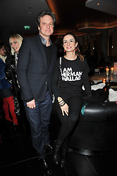 COLIN FIRTH and his wife LIVIA at a party to celebrate the 15th birthday of Vogue.com held at W Hotel, Leicester Square, London W1 on 17th February 2011.