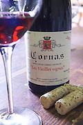 bottle glass corks les vieilles vignes dom a voge cornas rhone france