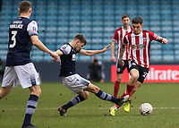 Football - 2019 / 2020 Emirates FA Cup - Fourth Round: Millwall vs. Sheffield United<br /> <br /> Mo Besic(Sheffield United) tackled by Jayson Molumby (Millwall FC) <br /> at The Den.<br /> <br /> COLORSPORT/DANIEL BEARHAM