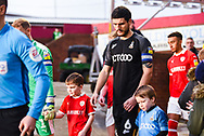 Anthony O'Connor of Bradford City (6) enters the pitch before kick off during the EFL Sky Bet League 1 match between Barnsley and Bradford City at Oakwell, Barnsley, England on 12 January 2019.