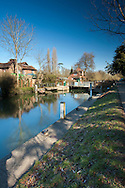 Sonning Lock on the River Thames, Sonning, Berkshire, Uk