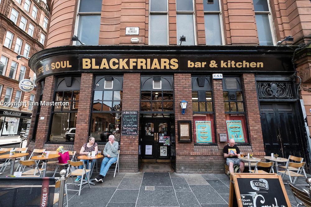 Blackfriars pub in Merchant City district of Glasgow, United Kingdom